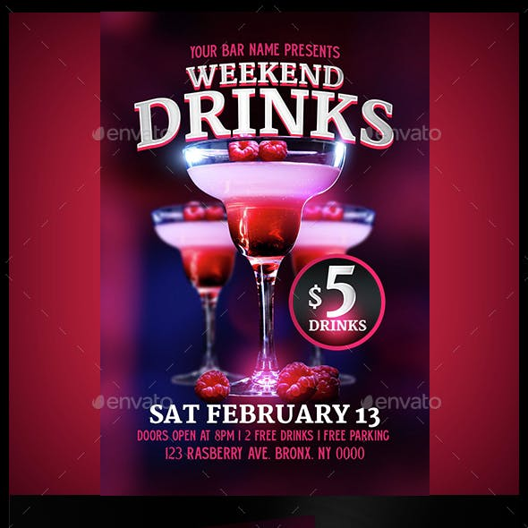 Drinks Flyer Template