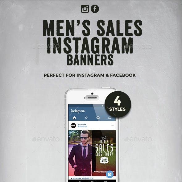Men's Sales Instagram Banners