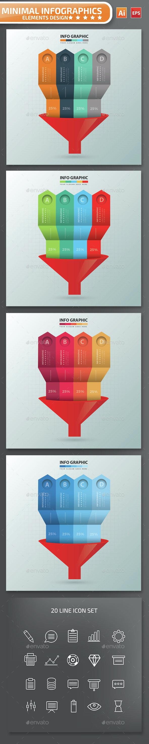 Minimal Funnel Infographics Design