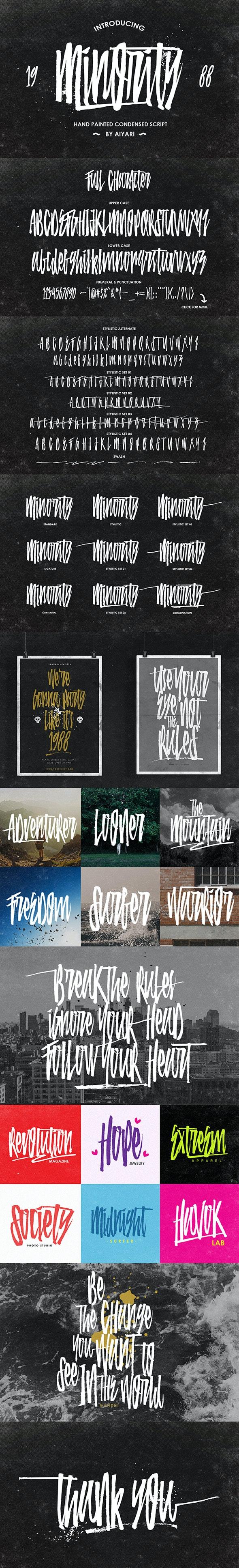 Minority - Script Fonts