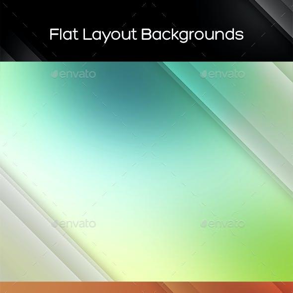 Flat Layout Backgrounds