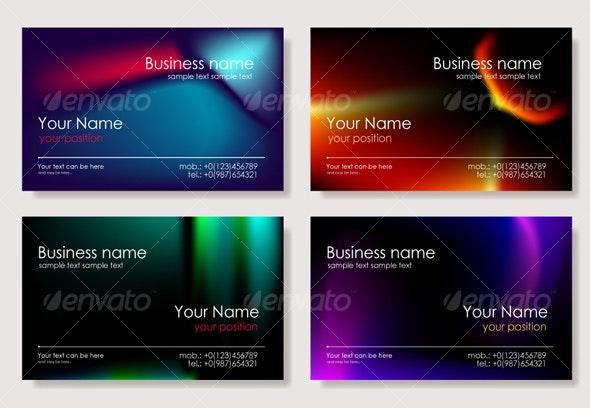 Multicolor biz card - Business Cards Print Templates
