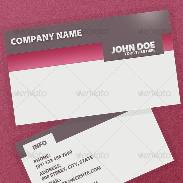 Serious Business Card