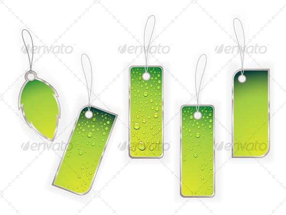 Green labels - Seasons/Holidays Conceptual