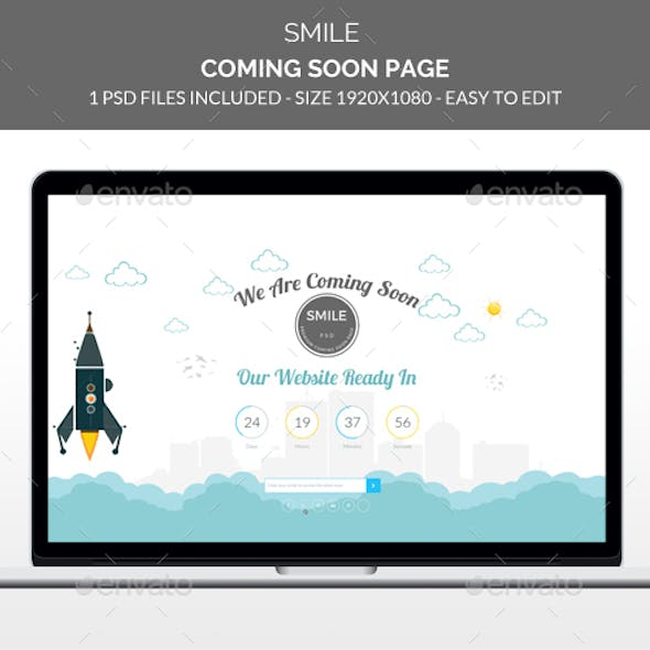 Smile Coming Soon. Under Construction Page.
