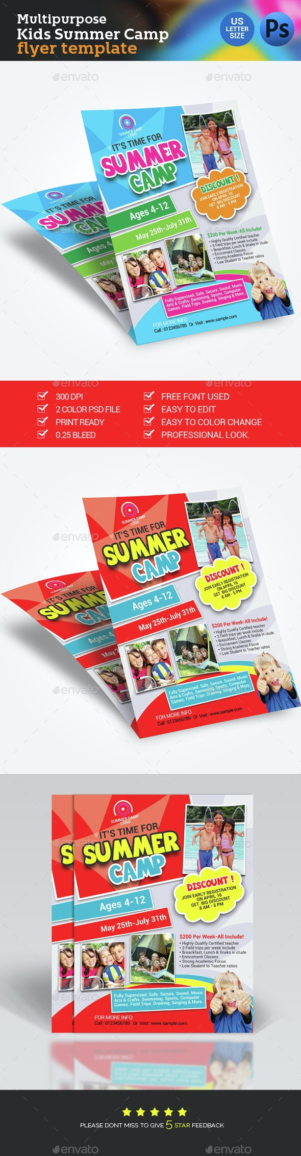 Summer Camp Flyer - Flyers Print Templates