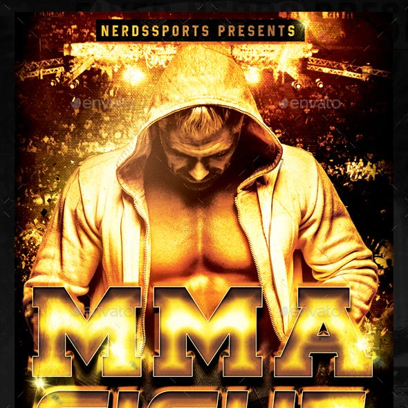 MMA Fight Championships Sports Flyer
