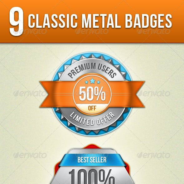 Classic Metal Badges