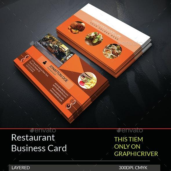 Restaurant Business Card Template.232