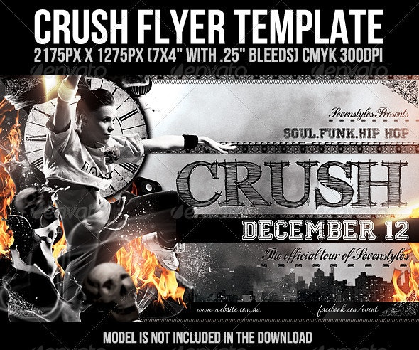 Crush Flyer Template - Clubs & Parties Events