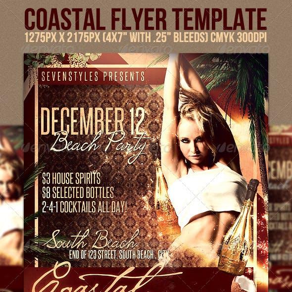 Coastal Flyer Template