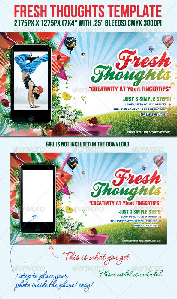 FreshThoughts Flyer Template - Clubs & Parties Events