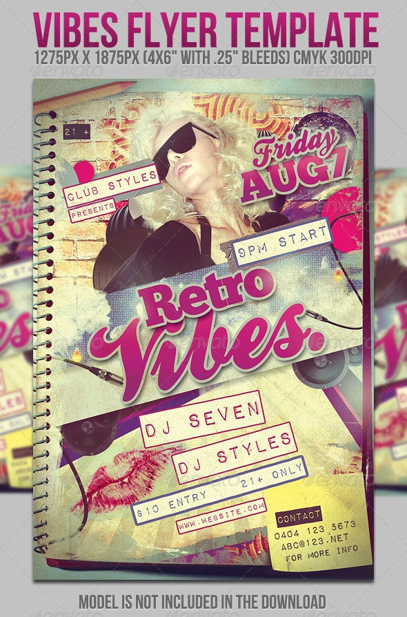 Vibes Flyer Template - Clubs & Parties Events