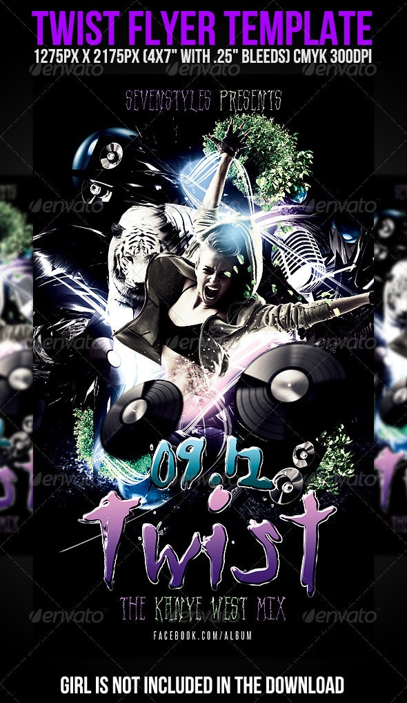 Twist Flyer Template - Clubs & Parties Events