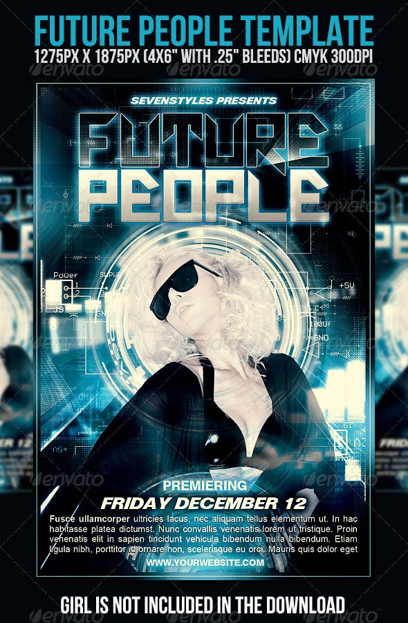 FuturePeople Flyer Template - Clubs & Parties Events
