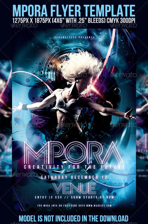 Mpora Flyer Template - Clubs & Parties Events