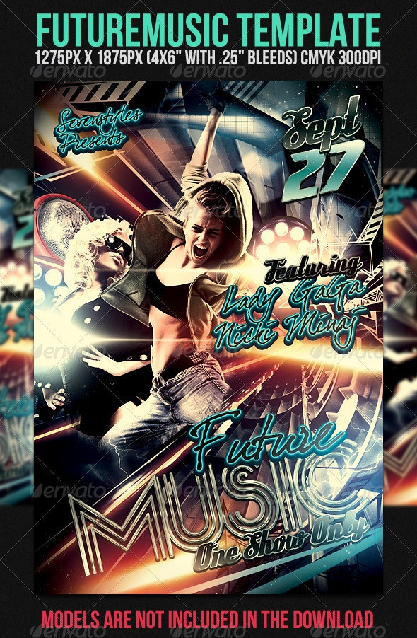 Future Music Flyer Template - Clubs & Parties Events