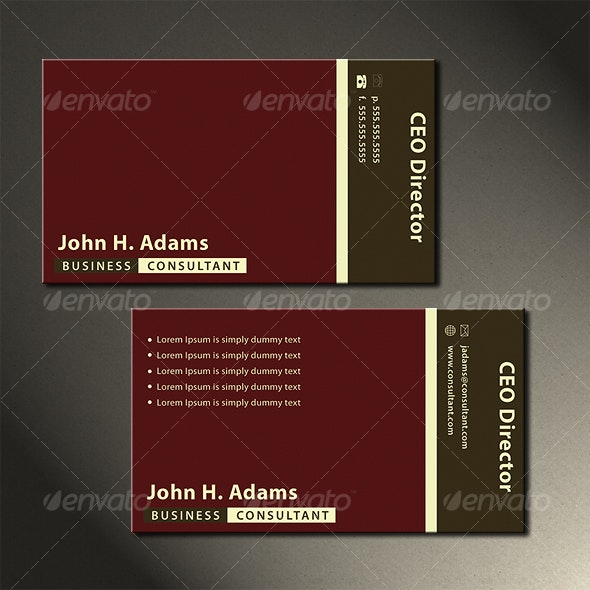 Conservative Business Card - Corporate Business Cards