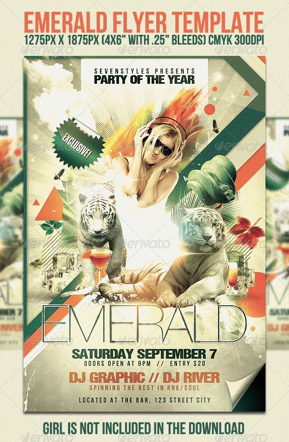 Emerald Flyer Template - Clubs & Parties Events