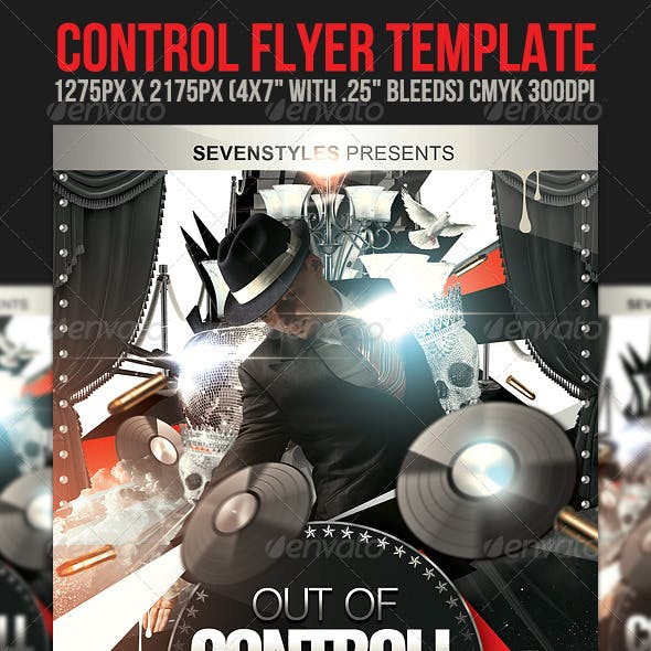 Control Flyer Template