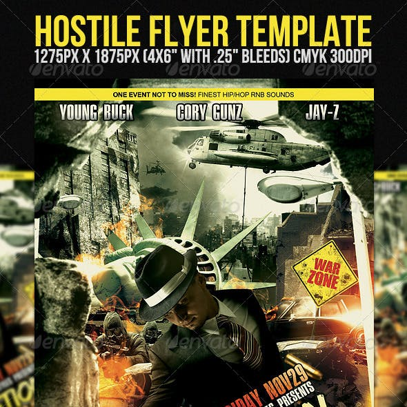 Hostile Flyer Template