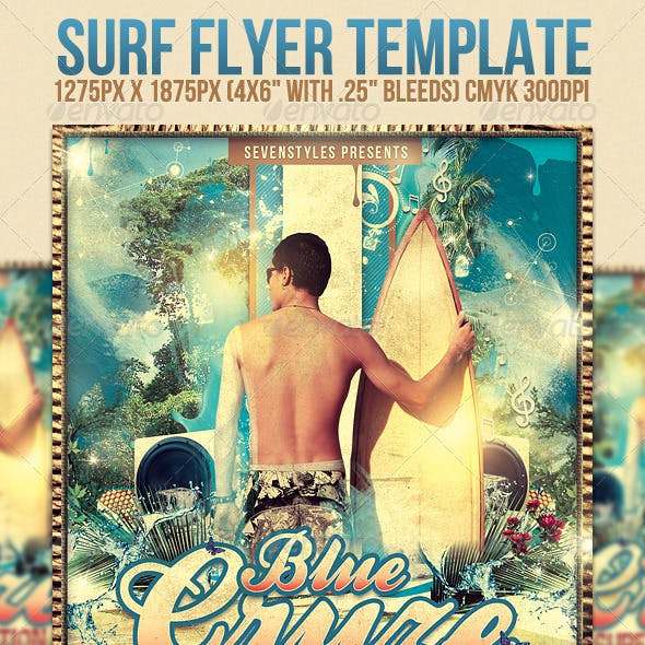 Surf Flyer Template