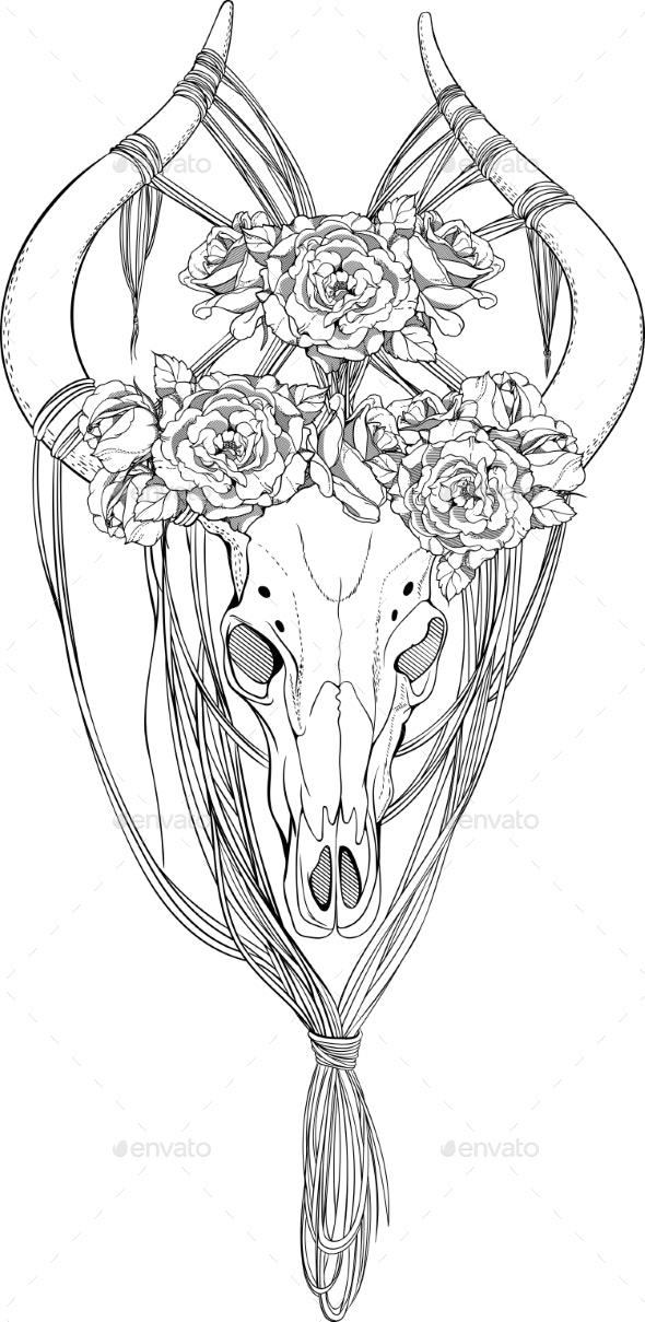 Animal Skull Decorated