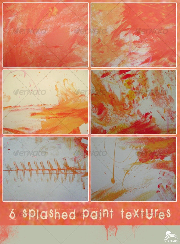 6 paint splashed textures - Abstract Textures