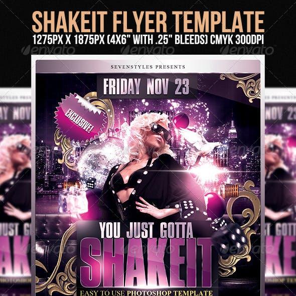 Shakeit Flyer Template