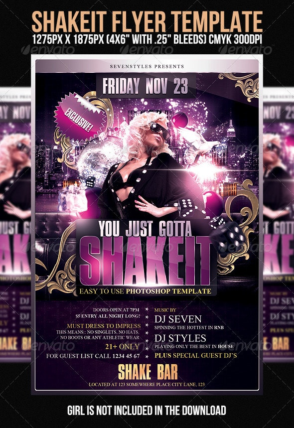 Shakeit Flyer Template - Clubs & Parties Events