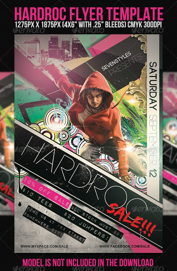 HardRoc Flyer Template - Clubs & Parties Events
