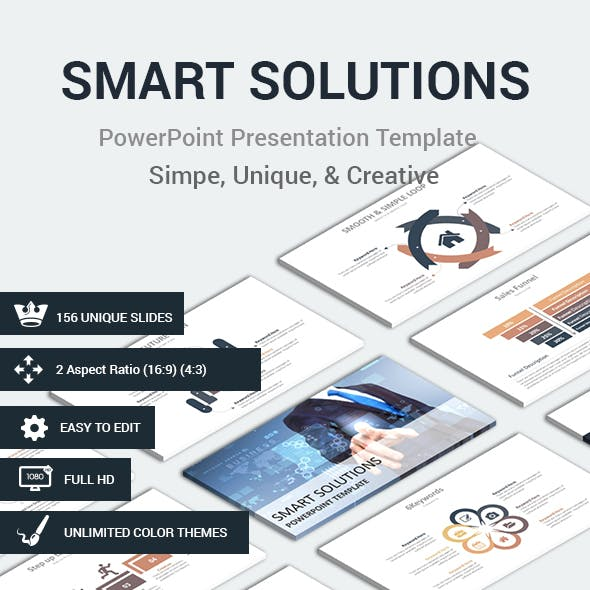 SMART SOLUTIONS PowerPoint Presentation Template