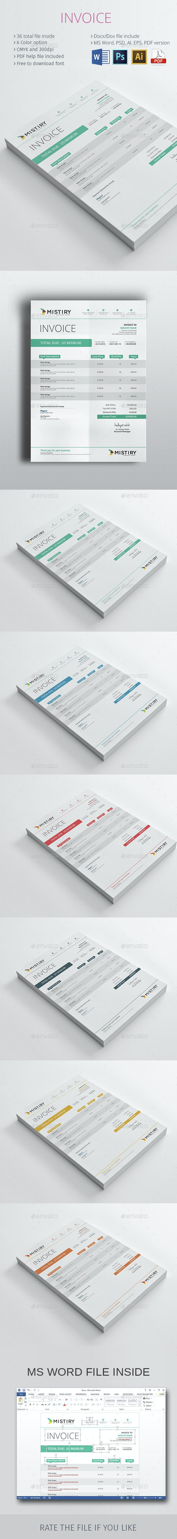 The Invoice - Proposals & Invoices Stationery