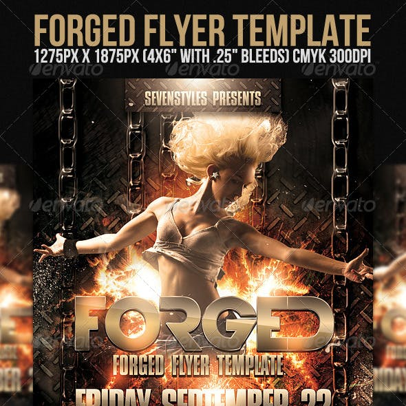 Forged Flyer Template