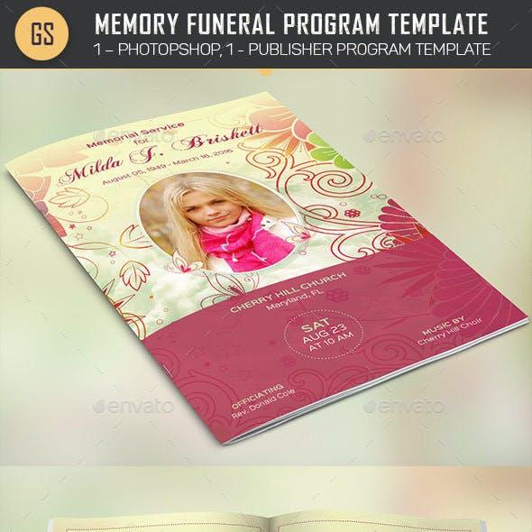 Memory Funeral Program Template