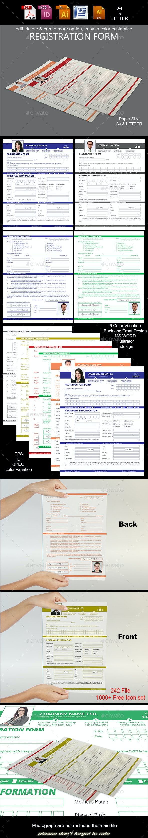 Registration Form - Print Templates