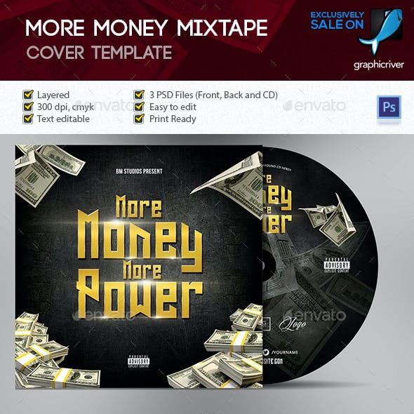 More Money Mixtape - CD Cover Artwork Template