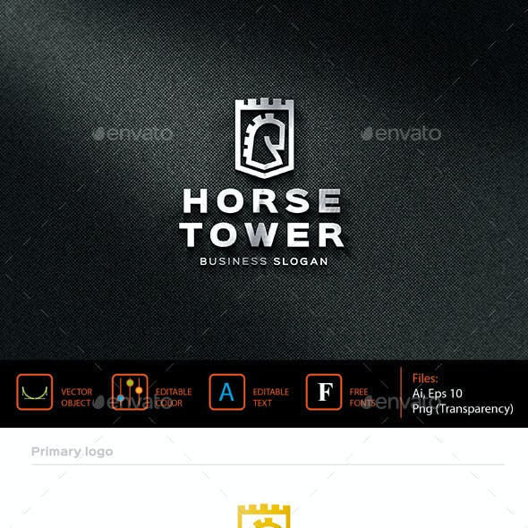 Horse tower logo