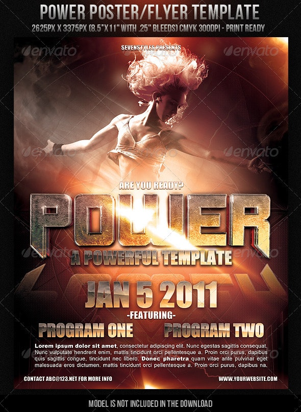 Power Poster/Flyer Template - Clubs & Parties Events