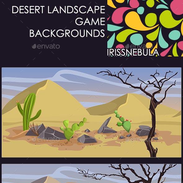 2 Desert Landscape Backgrounds