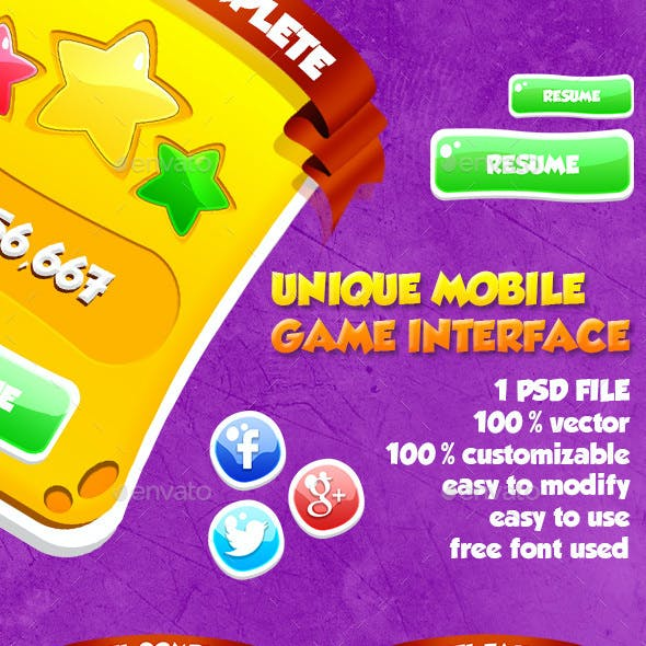 Unique Mobile Game Interface