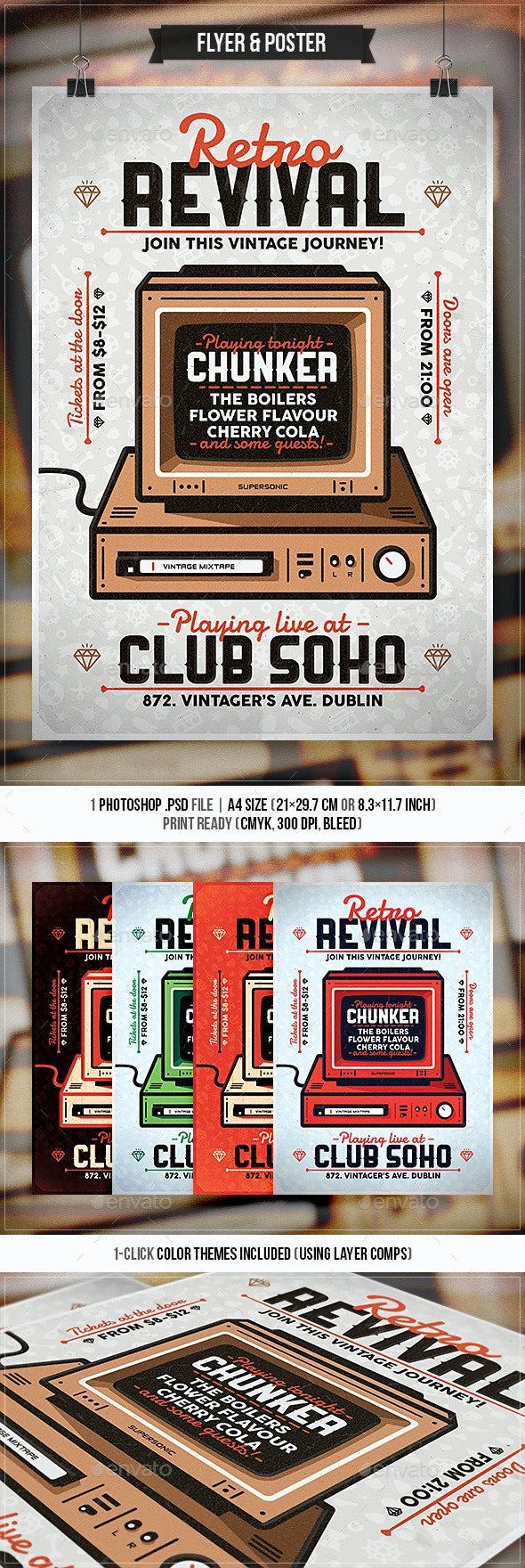 Retro Revival - Flyer & Poster - Concerts Events