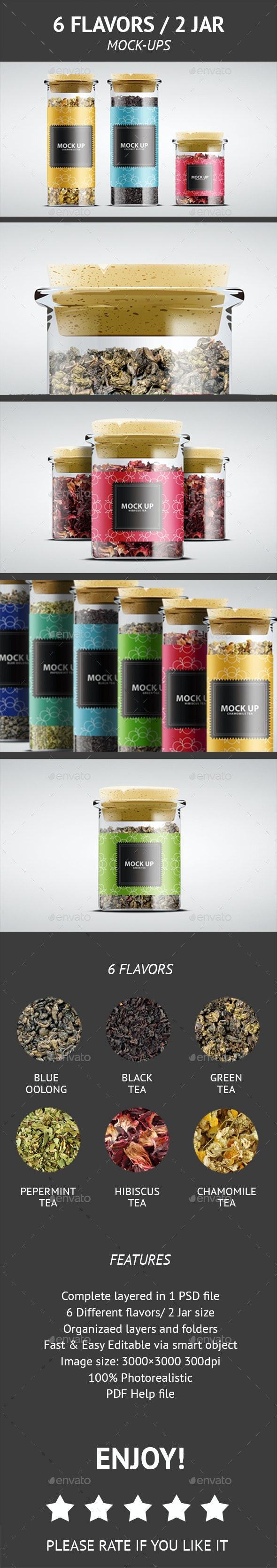 6 FLAVORS / 2 JAR  - Food and Drink Packaging
