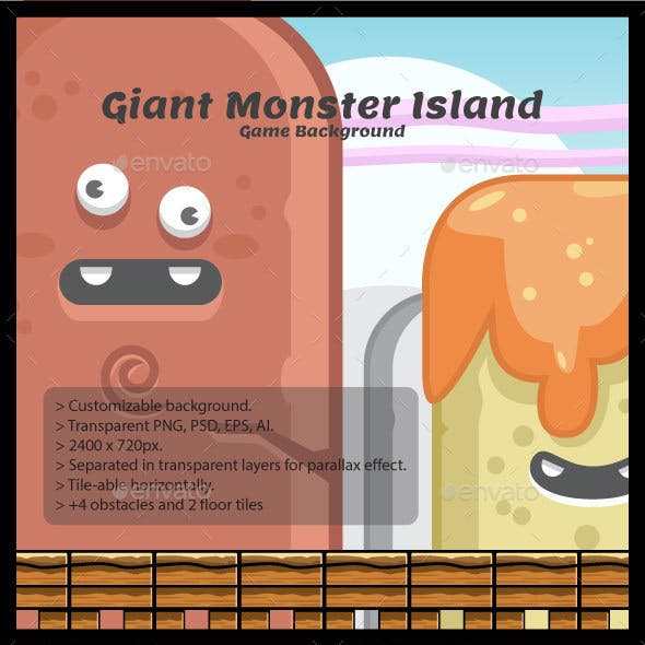 Giant Monster Island Game Background