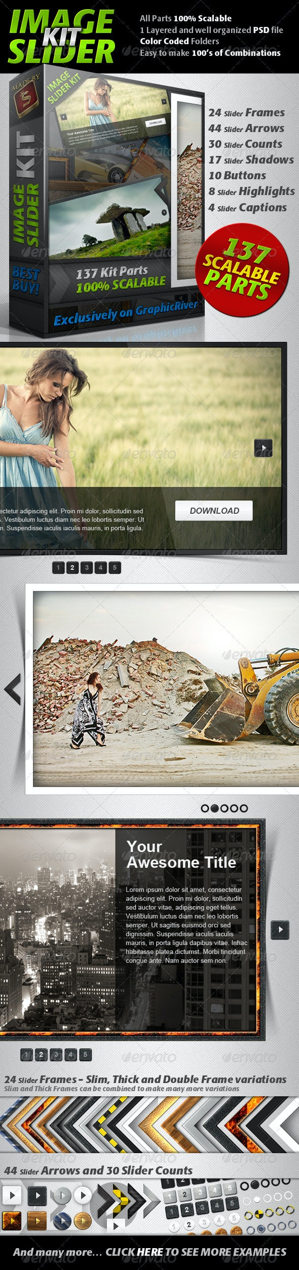 Image Slider Kit - Sliders & Features Web Elements