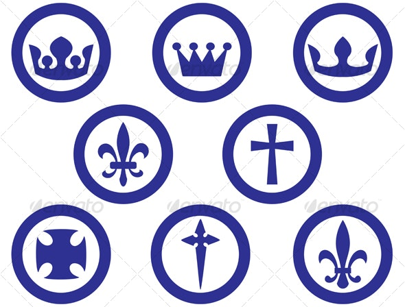 Royal and religion signs - Decorative Vectors