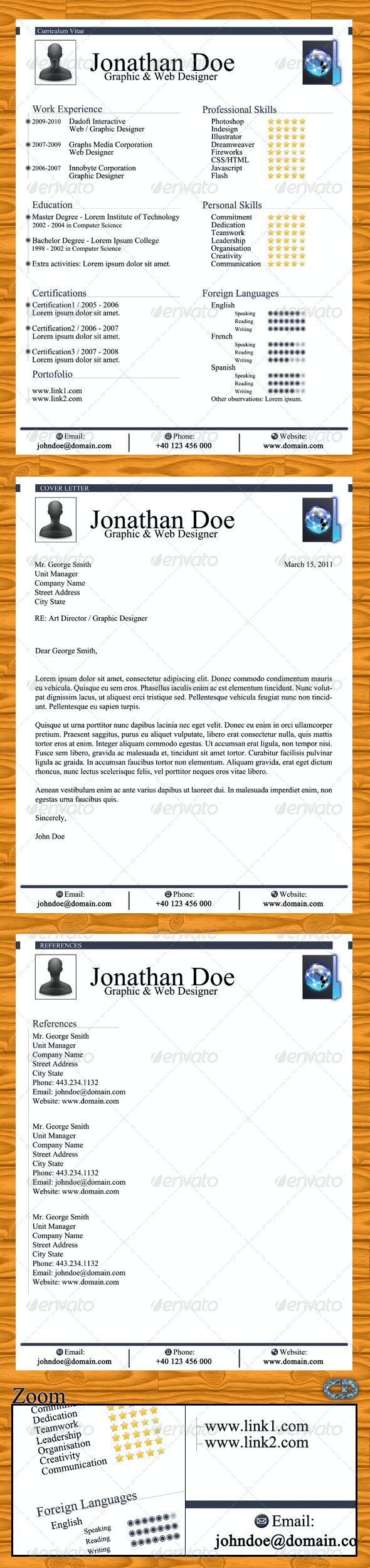 Elegant Resume + Cover Letter + References - Resumes Stationery