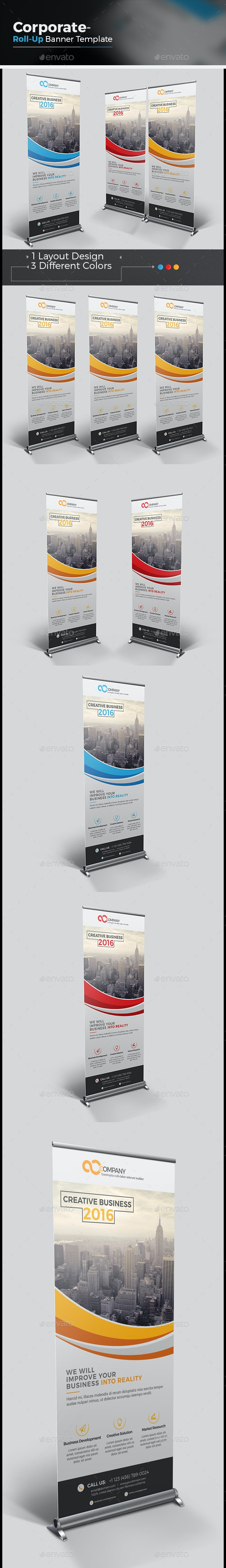 The Business Roll-up Banner - Signage Print Templates
