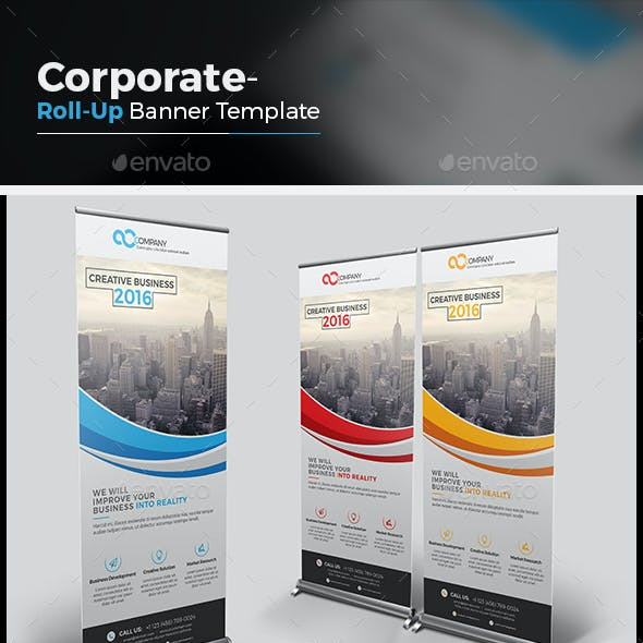 The Business Roll-up Banner
