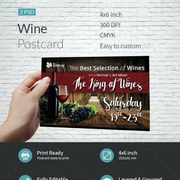 Wine Postcard Template